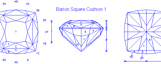 Barion Square Cushion 1