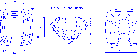 Barion Square Cushion 2